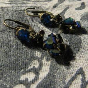 Sorrelli signed Rhinestone Dangle Earrings